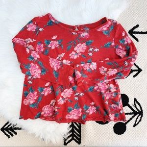 Old Navy • Red Floral Top